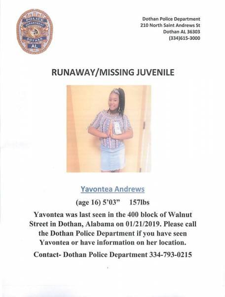 Runaway/Missing Juvenile