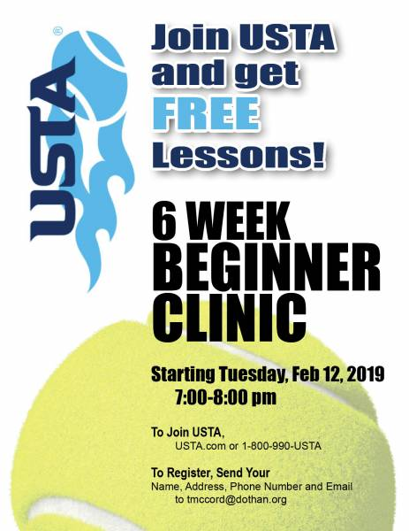 2019 Join USTA and get 6 weeks of free tennis lessons
