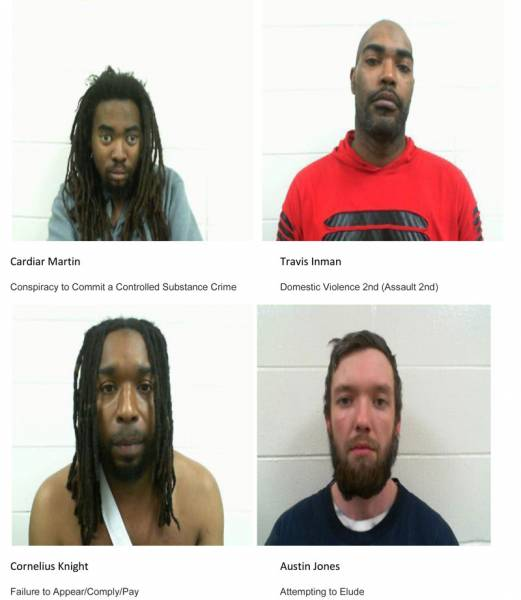 Dale County Sheriff's Office Mugshots for 01/31/2019
