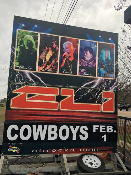 Eli Band in Concert at Cowboys Feb 1st
