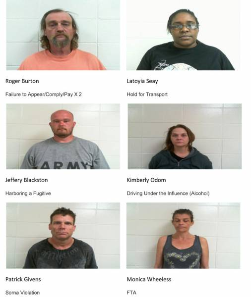 Dale County Sheriff's Office Mugshots for 2/7/2019