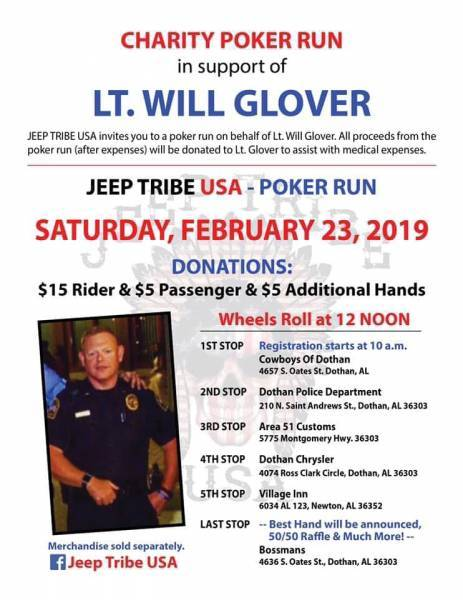 Charity Poker Run for Will Glover