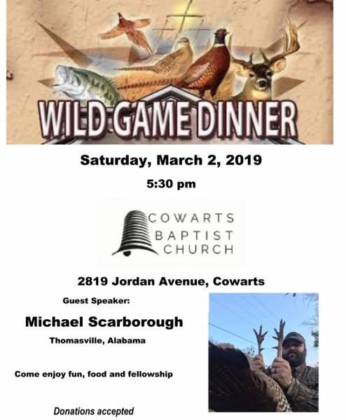 Cowarts Wild Game Supper