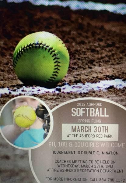 2019 Ashford Softball Spring Fling