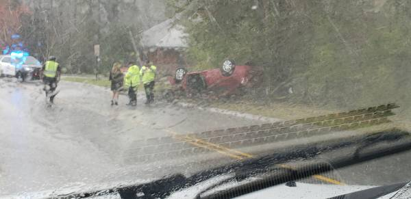 2:20 PM.... Vehicle Overturned on Horace Shepard Road