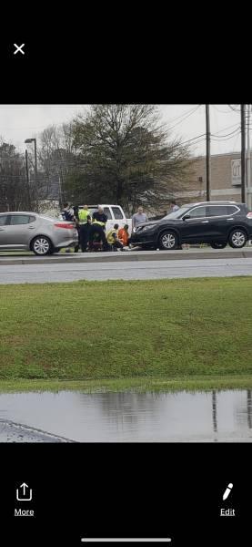 1:20 PM.  Pedestrian Struck By Motor Vehicle