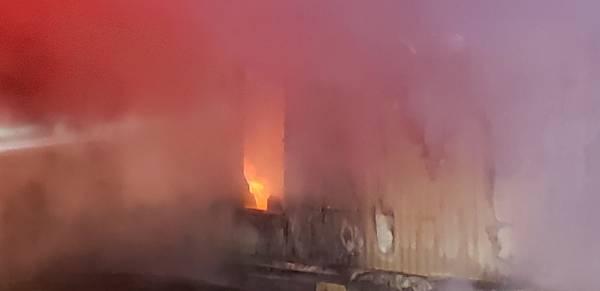 9:25 PM.  Structure Fire In Wicksburg