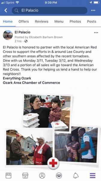 Help Lee County By Dining At EL PALICIO In Ozark