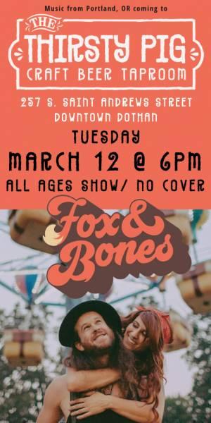 Fox and Bones in concert tonight FREE SHOW