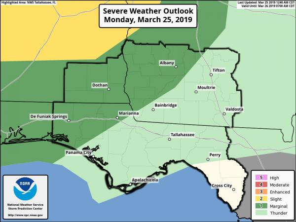 Marginal Risk of Severe Storms This Afternoon/Evening