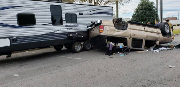 2:26 PM... Vehicle Flips in Taco Bell Parking Lot