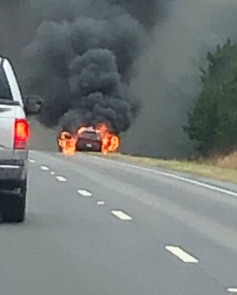 10:05 AM.  Vehicle Fire North Of Eufaula