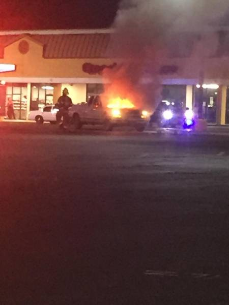 7:50 PM... Vehicle Fire at the Tobacco Shop on the Southside