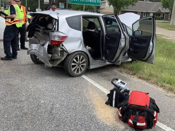 1:17 PM.   Three Car Accident 1800 Block of Ross Clark Circle
