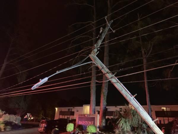 10:32 PM   One Vehicle Verses Utility Pole 900 Block of Honeysuckle Road