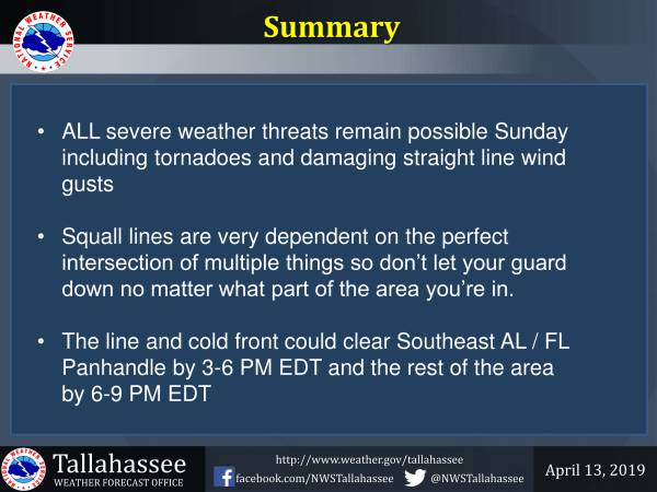 Severe Storms Still Possible Sunday and Sunday Night